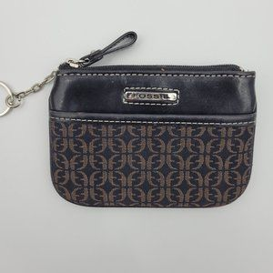 Fossil Card Case Wallet With Keychain